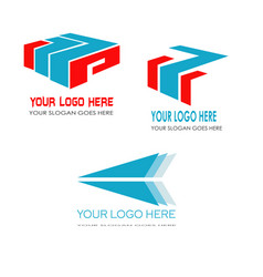 3 logo template vector
