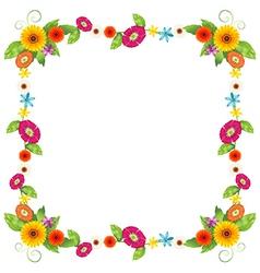 A flowery border design vector image