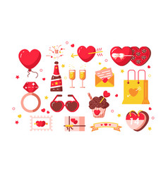 about love set vector image