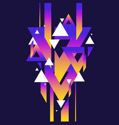 abstract geometric background with triangles in vector image