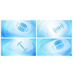 abstract rugby backgrounds vector image