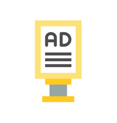 Advertise post on footpath vector