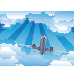 Airplane in the Sky4 vector image