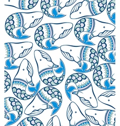 Awesome whales vector image