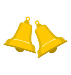 bells icon isolated vector image