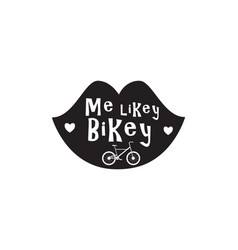 Bike badge vintage style vector