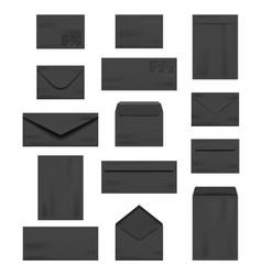 black envelopes luxury dark template a4 vector image