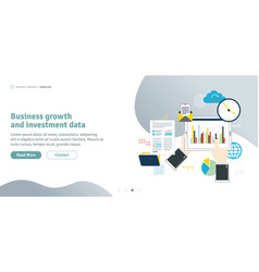 business growth and investment data vector image