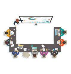 business seminar teacher provides training vector image