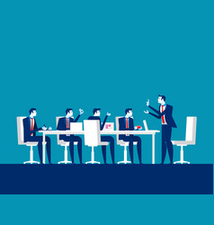 Businessman meeting concept business discussion vector