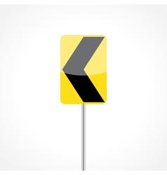 Chevron Alignment Sign vector image
