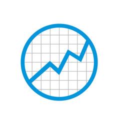 circle statistic grid rising up symbol design vector image