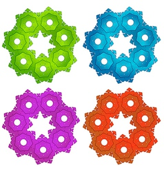 Colorful cogwheels vector