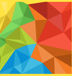 colorful low polygon background vector image
