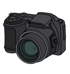 Compact photographic camera vector
