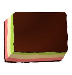 cream choco cake icon cartoon style vector image