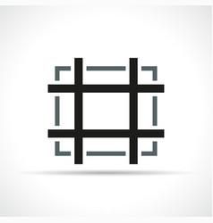 crop symbol icon design vector image