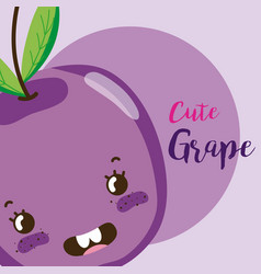 cute fruit kawaii cartoon vector image