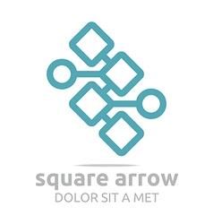 Design square arrow icon symbol abstract vector