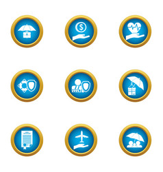 donation delivery icons set flat style vector image