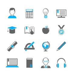 E-learning icon set vector