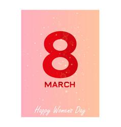 Elegant luxury international womens day 8 march vector