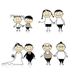 Family relationship vector image