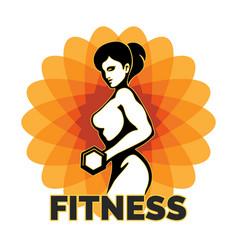 Fitness club creative emblem vector