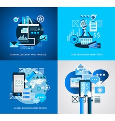 Flat Style Infographic UI Icons to use for your vector image