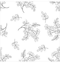 Flower background contours vector