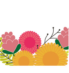 flowers spring decoration poster vector image