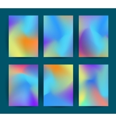 Fluid colorful backgrounds set vector