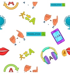 Foreign language pattern cartoon style vector