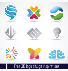 Free 3d logo design inspirations vector