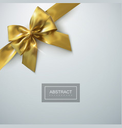 Golden bow and ribbon holiday vector