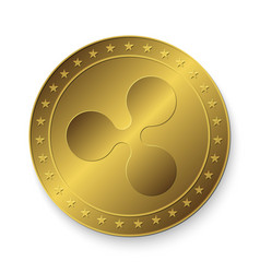 golden ripple coin vector image