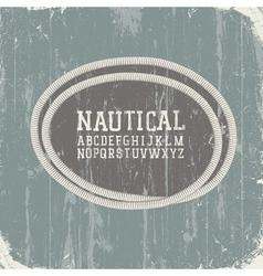 grunge background with rope label vector image