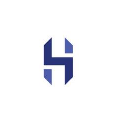 h logo letter logotype blue icon element vector image