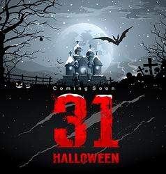 Happy halloween coming soon red message vector image