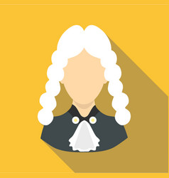 judge icon flat style vector image