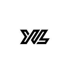 logo letters xl line vector image
