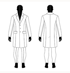 Man black silhouette figure in a coat vector