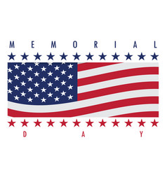 Memorial day label vector