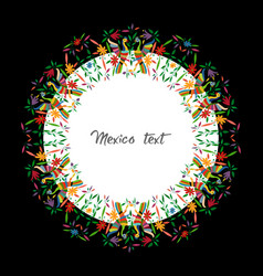 mexican traditional textile embroidery style vector image