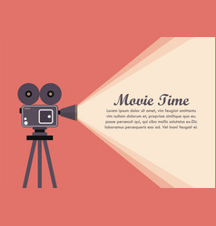 movie projector retro camera vector image