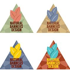 Natural Banners Design Set Vintage Style vector