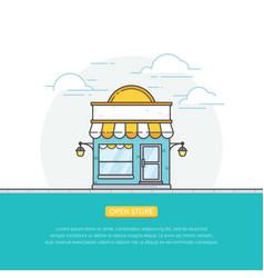 Open online store vector