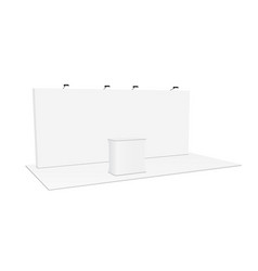 Rectangular pop up display system podium vector