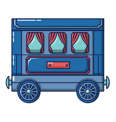 retro wagon icon cartoon style vector image