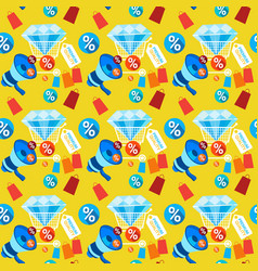 sale promotion shopping discount seamless pattern vector image